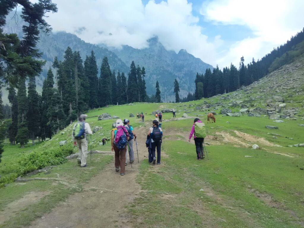 enjoying trekking